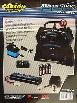 Carson reflex Pro 2.4ghz RC Car Electric Starter Set Tansmitter Battery Charger