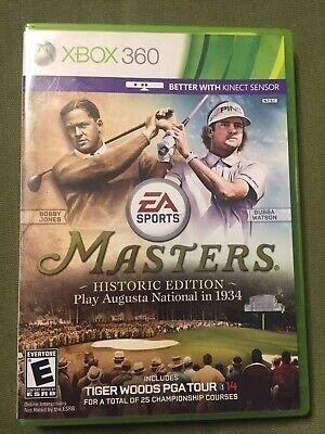 Tiger Woods PGA Tour 14 Master Historic Edition Microsoft Xbox 360 Tested