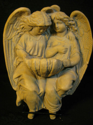 HOLY WATER FONT ANGELIC WALL MOUNT