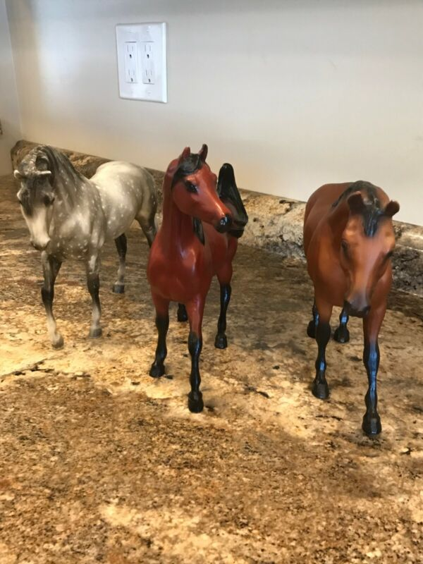 Breyer horse lot three vintage horses Sham , Azteca, Rugged Lark