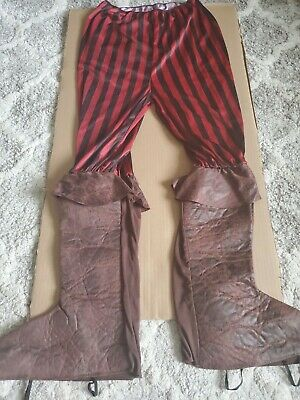 Spats, Gaiters, Puttees – Vintage Shoes Covers Rubies Pirate pants of the Caribbean Dress Halloween Costume with boots spats  $12.00 AT vintagedancer.com