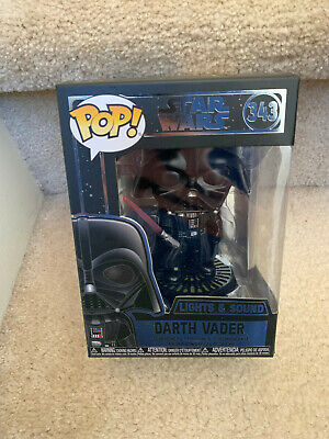 Star Wars Funko Pop - Lights & Sound Darth Vader # 343 NON-MINT Package