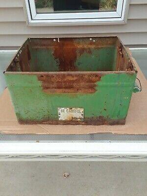 Vintage John Deere Tractor Battery Box Used