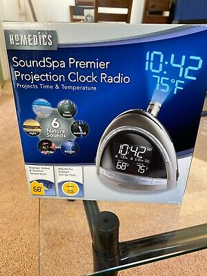 Homedics SoundSpa Premier Clock Radio Nature Sound Projection SS-5010 New In -