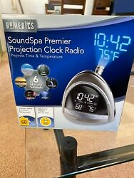 Homedics SoundSpa Premier Clock Radio Nature Sound Projection SS-5010 New In Box