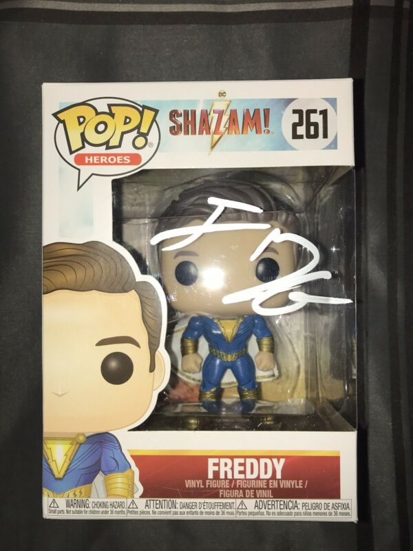 JACK DYLAN GRAZER SIGNED AUTOGRAPHED SHAZAM FREDDY FUNKO POP #261 EXACT PROOF #3
