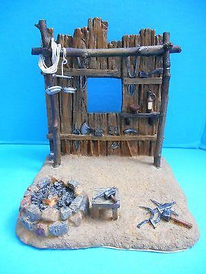 Rare Ret. Blacksmith Shop Fontanini Heirloom Nativity Village Building Accessory