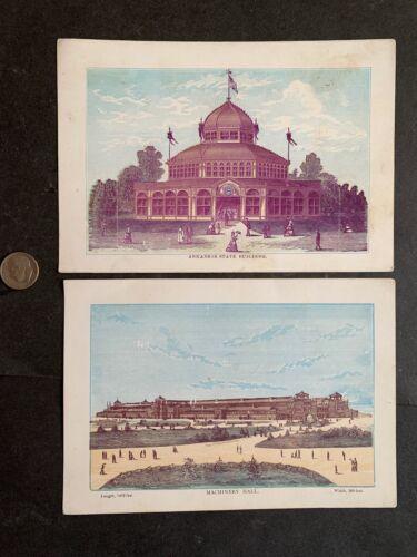 1876 PHILADELPHIA PA WORLDS FAIR LARGE VIEW CARDS ORIGINAL ! ANTIQUE PAPER L@@K!