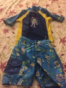 4 T Boys swimming trunks with rasher