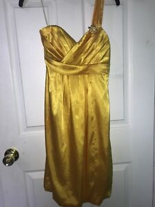 Yellow cocktail dress from le Chateau