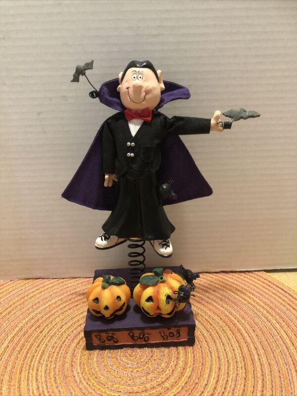 "Halloween Standee Vampire  Resin Figurine Home Decor Avon 9""H"