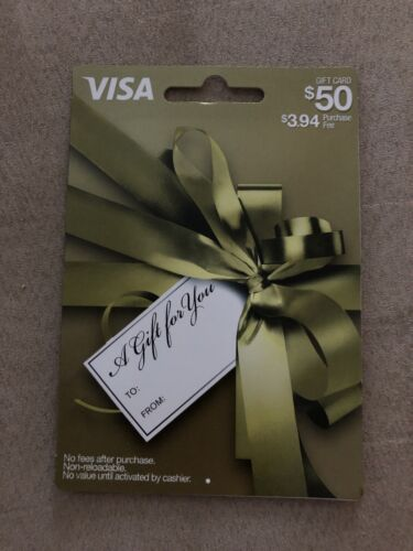 50 Gift Card. Already Activated. Free Shipping. - $52.00
