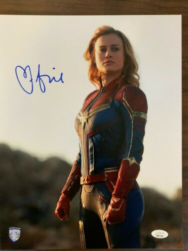 Captain Marvel Brie Larson Autographed Signed 11x14 Photo JSA COA #2