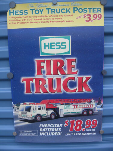 Hess Truck Advertisement Poster Sign Toy Truck Poster