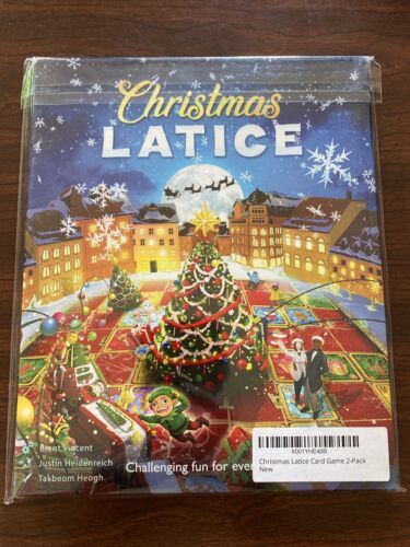 Christmas Latice Strategy Card Game 2-Pack - NEW