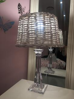 2 x Hampton style lamp shades only