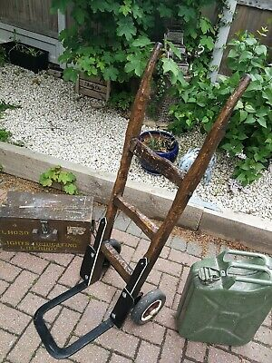 Vintage Rustic Sack Barrow / Railway / Porters / Trolley / Coffee Table