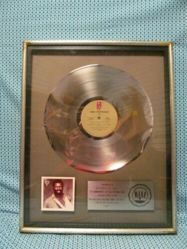 Teddy Pendergrass TP Vinyl Gold Record 1980 RIAA ~ Framed & Matted AUTHENTIC