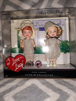 2008 LUCY GETS A PARIS GOWN BARBIE KELLY DOLL SET EPISODE 147 I LOVE LUCY