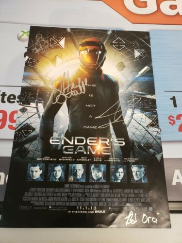 Autographed Enders Game Poster (12x17)