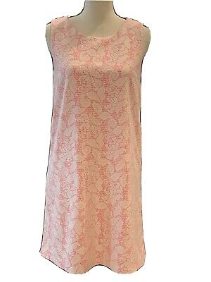 H&M Womens Dress Size Small Pink Sleeveless Lined Floral Back zip