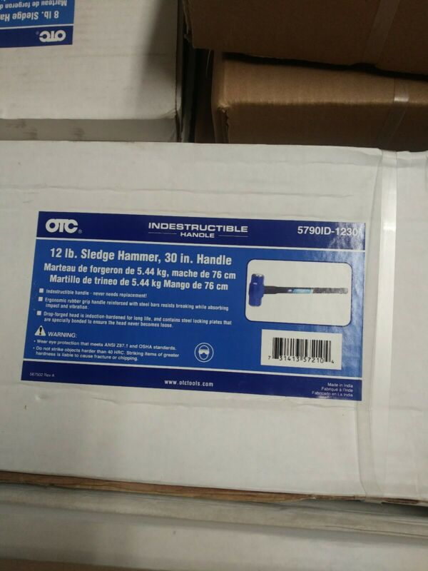 "Otc 12 Lb 30"" Double Face Sledge Hammer, Indestructible Handle New"