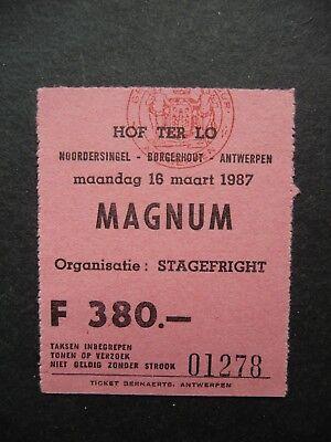 Concert Ticket - MAGNUM - Hof ter Lo - Antwerp - Belgium - 1987