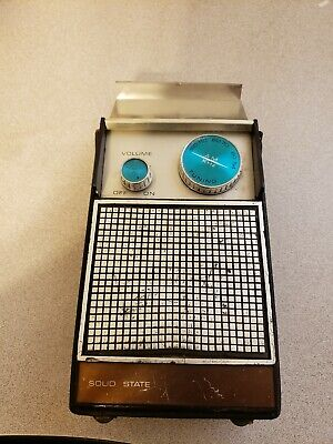 VINTAGE ID IDEAL SOLID STATE AM RADIO WORKING CONDITION  ELECTRIC & 9V BATTERY