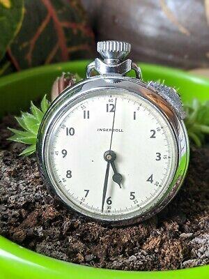 Vintage Rare Ingersoll GB Ltd Hand Wind Pocket Stop Watch - Working
