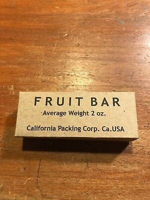 WWII US Army USMC K-Ration Fruit Bar Box,jungle Ration, Mountain Ration, used for sale  Amesbury
