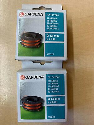 2 Ersatzfadenspulen 5372-20 Gardena Rasentrimmer Duo TT350/400/450 TS450/530L