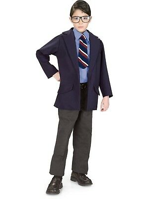 Superman Halloween Boys Costume Clark Kent Superman Size 12-14 - Clark Kent Costume Halloween