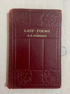 Last Poems by A. E. Housman Mayflower Press 1930 for sale  Pickering