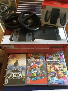 Nintendo Switch Bundle with games and accessories