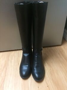Black riding boots size 8