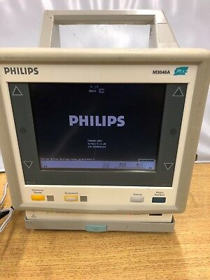 Philips M3 M3046a Patient Monitor With Spo2 Ecg Nibp Temp