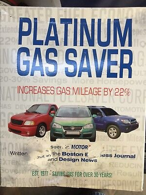 National Fuel Saver Corp Platinum Gas Saver New In The Box 1980S