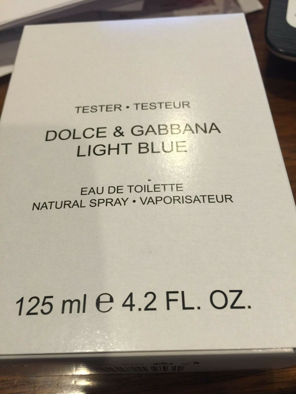 DOLCE & GABBANA * LIGHT BLUE * Cologne Men * 4.2 oz * D&G * NEW TESTER WITH CAP