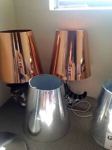 2 Bronze Lampshade's 2 silver Lampshade's $10 Chatswood Willoughby Area Preview