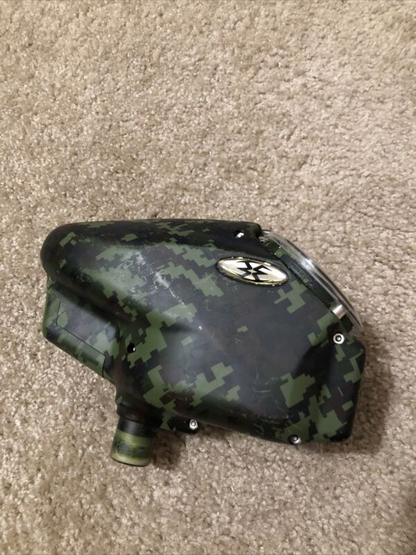 EMPIRE HALO TOO CAMO GREEN & BLACK PAINTBALL HOPPER LOADER