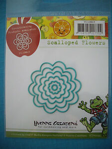 Yvonne Creations *Scalloped Flowers* Die Set- Compatible with Cuttlebug & Sizzix