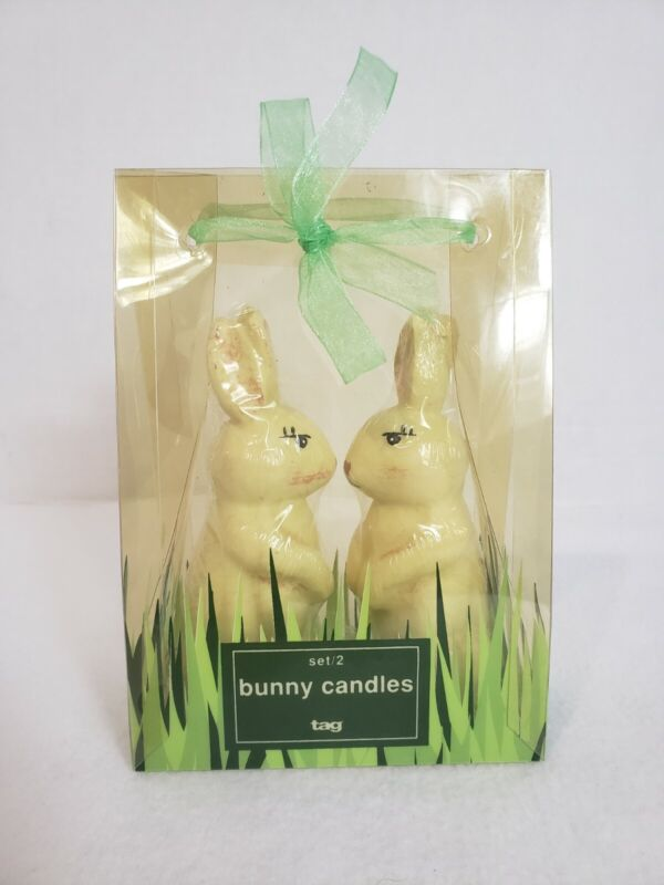 Bunny Rabbit Candles, Easter, Holiday Set Of 2, Factory Sealed