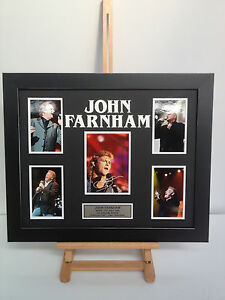 UNIQUE PROFESSIONALLY FRAMED, SIGNED JOHN FARNHAM PHOTO COLLAGE WITH PLAQUE.