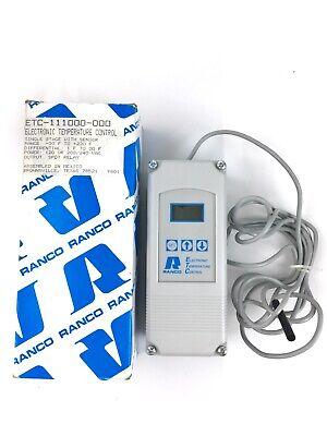 Ranco Digital Electronic Temperature Controller Etc-111000-000 9801-09 Parts