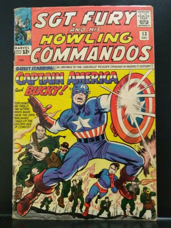 Sgt. Fury And His Howling Commandos #13 Dec 1964 Marvel Comics Key VG 2nd x-over