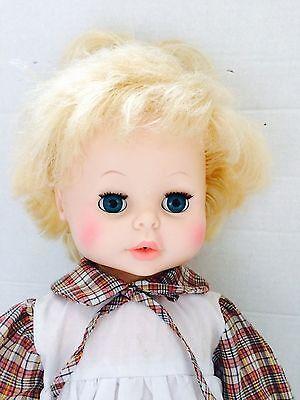 "21"" Vintage 1973 EEGEE Drink & Wet Vinyl SOFTINA Blonde BABY Girl DOLL"