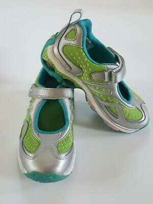 NEW Stride Rite Superball Girls Real Leather MJ Sneakers Athletic Shoes Size -