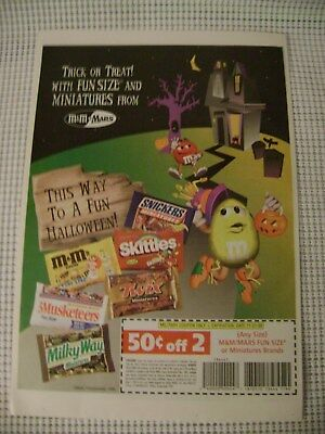 1998 magazine ad M&M's TRICK OR TREAT mms M&M candy Halloween advert print vtg](Halloween M&m Treats)