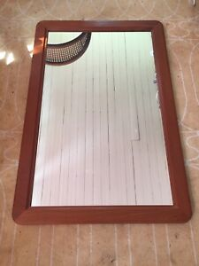 Teak Mid Century Modern Mirror - Made in Denmark (2 available)