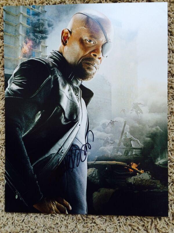 Samuel L. Jackson Signed 'The Avengers: Age of Ultron' 14X11 Photo NICK FURY
